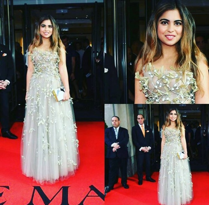 Isha Ambani looks stunning at the Met Gala 2017